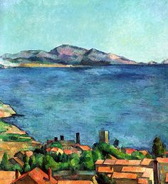 Paul Cezanne - The Bay of Marseilles, Seen from L& 1885 at New York Metropolitan Art Museum Listed in the book - 50 Impressionism Paintings You Should Know Cezanne Art, Paul Cezanne Paintings, Paul Gauguin, Henri Matisse, Landscape Art, Landscape Paintings, Impressionist Art, Pablo Picasso, Art World