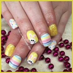Easter Bunny nails by Trai-Sea's Escape Spa