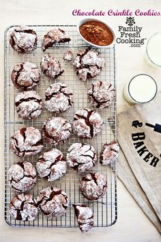 Gluten Free Chocolate Crinkle Cookies ~ Cup4Cup & KitchenAid Food Processor GIVEAWAY