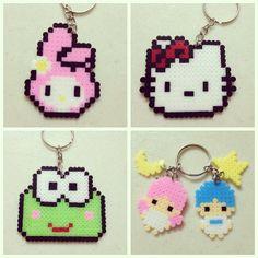 Sanrio characters keyring perler beads by 9iftmepls