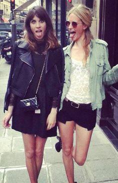 poppy delevigne and alexa chung. ♥