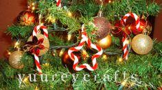 DIY | Christmas Ornaments / Adornos Navideños | Candy Cane & Star | Bastón de Caramelo & Estrella | Pipe Cleaner / Limpiapipas  https://www.facebook.com/YuureYCrafts