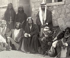 Despite controversies, all accounts agree that Lawrence (in the center, on Prince Feisal's left), was a valued adviser serving Prince Feisal and the Arab Revolt.