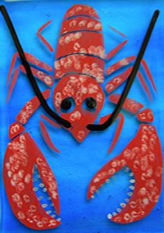 lobster crafts #JoesCrabShack Lobster Crafts, Lobster Art, Diy For Girls, Diy For Teens, Crafts For Teens, Baby Shower Crafts, Best Baby Shower Gifts, Wall Art Crafts, Diy Crafts