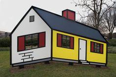 "Can you find the geometric shapes? Roy Lichtenstein, ""House I,"" model 1996, fabricated 1998 #Lichtenstein #Teachers #K12"