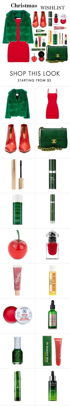 """#PolyPresents: Wish List"" by roses-are-beauty on Polyvore featuring MSGM, Isabel Marant, Chanel, Concrete Minerals, RéVive, Sunday Riley, Tony Moly, Guerlain, Lano and Burt's Bees"
