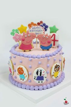 Peppa Pig, George Pig & Friends Birthday Cake