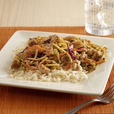 Chop Suey with Pork. An easy chop suey recipe made with ground pork chop suey vegetables and teriyaki stir fry sauce for a quick rice topper. Uncle Ben's and Ready Rice are registered trademarks of Mars Food US LLC - Comfort Food Recipes Easy Pork Chop Recipes, Easy Asian Recipes, Pork Recipes, New Recipes, Cooking Recipes, Healthy Recipes, Ethnic Recipes, Oriental Recipes, Budget Recipes