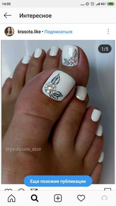 Nageldesign Pedicure Seventies hairstyle – Do you Have it? Pretty Toe Nails, Cute Toe Nails, Fancy Nails, Gorgeous Nails, Cute Toes, Toe Nail Color, Toe Nail Art, Manicure E Pedicure, Pedicures