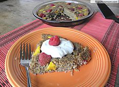 Fruity Baked Quinoa:   I need more quinoa recipes.  I'm going to try this out on my playgroup friends:)