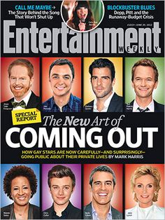 In this week's Entertainment Weekly special report cover story, writer Mark Harris examines the new, casual method gay celebrities are using to reveal their sexuality publicly for the first time