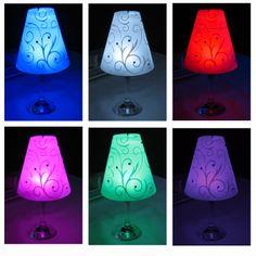 Wine Glass Lampshades  http://cgi.ebay.co.uk/ws/eBayISAPI.dll?ViewItem&item=261345342031