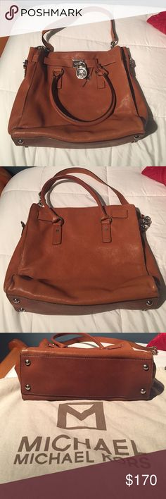 Authentic Michael Kors Bag Authentic Michael Kors Bag. very gently used. comes with original dust bag. inside lining has very minor blemishes. Michael Kors Bags Shoulder Bags