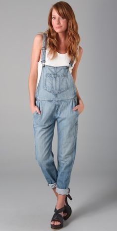 Overalls are back! Jean Overalls, Dungarees, I Love Girls, Nice Dresses, Your Style, Womens Fashion, Pretty, Jean Jean, How To Wear