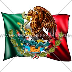 "The Wild Side offers several ""Mexican Pride"" designs, while Great Dane Graphics stock art includes depictions of Mexican flags, maracas, dancing señoritas, and more.  Deign: B-0829 - Mexican Flag from GreatDaneGraphics.com"