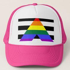 3eed4cc5f8e Straight Ally flag Trucker Hat