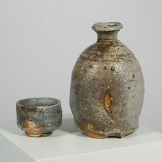 Judith Duff  |  Sake Bottle and Cup (5.5 x 3.5 x 3).