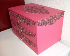 commode rose Marie Christine profil