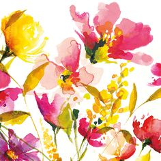 Art Group Summer Scent by Nicola Evans Art Print on Canvas
