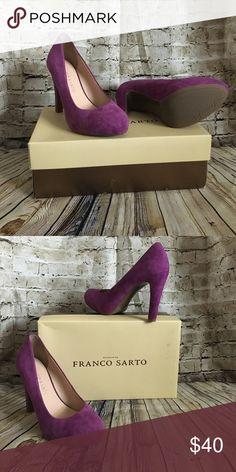 """Franco Sarto Shoes 👠👠👠👠 4"""" Heels suede material Franco Sarto Shoes Heels"""