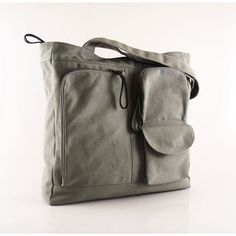 SALE Light gray canvas tote women shoulder bag by kormargeaux etsy.com Pink  Grey a1a84745dca09