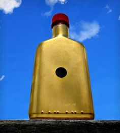 Gold Glass Flask by Kokuban City available at Withal now. The place to get inspired goods by local makers. Glass Flask, Gold Glass, Taxi, Sign, Style, Swag, Signs, Board, Outfits