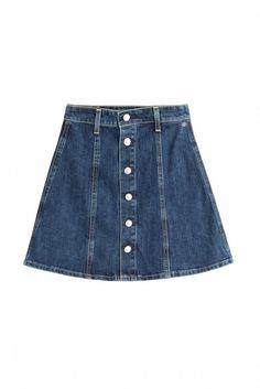 Alexa Chung for AG Kety Denim Skirt Faldas Estampadas 9ce78887d103
