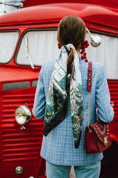 #HexiSilk Hair Scarf, Hairstyle, Silk square scarf, silk bandana