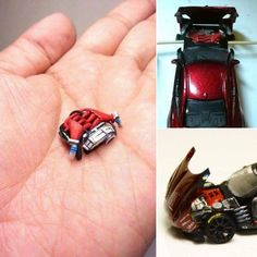 No photo description available. Custom Hot Wheels, Hot Wheels Cars, Custom Cars, Miniatur Motor, Bike Engine, Miniature Cars, Model Cars Kits, Remote Control Cars, Metal Toys