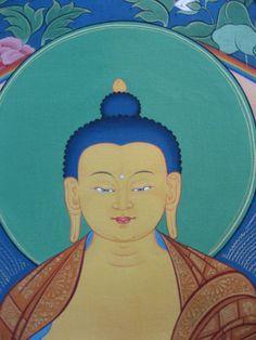 Detail of #Shakyamuni #Buddha thangka by #TashiDhargyal.