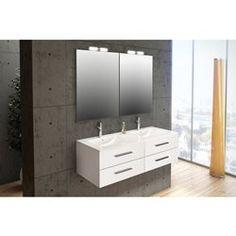 Aliso Meuble salle de bain 100 cm 3 tiroirs plan vasque