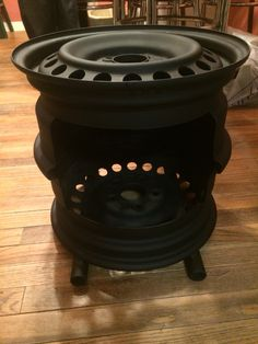 My version of the steel wheel fire pit