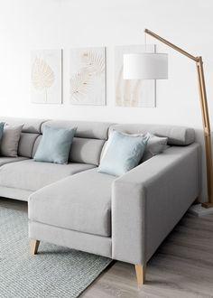 Air sofa upholstered - Kenay Home Living Room Carpet, Home Living Room, Living Room Decor, Interior Design Living Room, Living Room Designs, Sofa Gris, Corner Sofa Design, Front Room Decor, Luxury Home Furniture