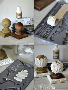 Cat-arzyna: 2017 Source by bNLbryant Cat-arzyna: This & That Diy Clay molded wooden appliqués for any refurbished project! Did craft 2017 Discover thousands of images about Use plaster of Paris Diy Clay, Clay Crafts, Crafts To Make, Kids Crafts, Diy Plaster, Plaster Crafts, Clay Projects, Projects To Try, Diy Y Manualidades
