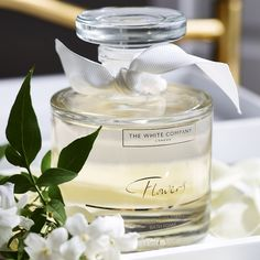 Flowers Bath Foam Decanter | The White Company. Shopping from the US? -> http://us.thewhitecompany.com/Candles-and-Fragrance/Bath-Products/Flowers-Bath-Foam-Decanter/p/FLDBF?swatch=No+Colour