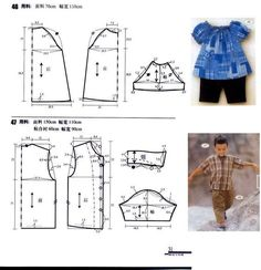 Pesochnik for the kid. Pattern (Sewing and cut) Kids Dress Patterns, Sewing Patterns For Kids, Sewing For Kids, Baby Sewing, Baby Patterns, Clothing Patterns, Free Sewing, Sewing Clothes, Dressmaking