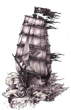 pirate ship drawing                                                                                                                                                      Plus