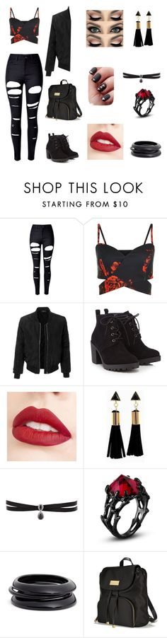 """""""Untitled #193"""" by pandashepherd ❤ liked on Polyvore featuring WithChic, LE3NO, Red Herring, Jouer, Fallon, ZENZii and Victoria's Secret"""