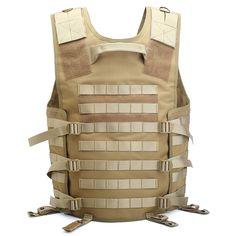 Wholesaler Desert Camo Army Combat Black Patch Molle Military Tactical Vest Plate Carrier