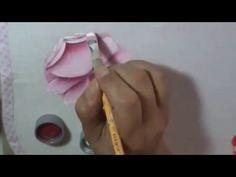 Dicas de pintura grátis - Rosa virada - Pintura em tecido - Série como p...