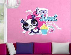 Young girls will love it: Wall Decal Littlest Pet Shop - Penny Ling