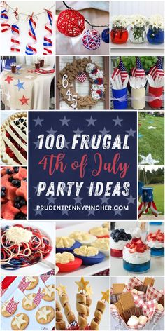 Celebrate America on a budget with these frugal of July party ideas. From DIY of July decorations to of July food ideas for a crowd, there are plenty of patriotic party ideas. 4th Of July Cake, Fourth Of July Decor, 4th Of July Celebration, 4th Of July Decorations, 4th Of July Party, July 4th, Table Decorations, Birthday Decorations, Patriotic Desserts