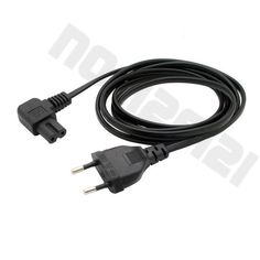 European 2pin male to IEC 320 C7 Female angled power cord, Angled IEC C7 cord L=3.0M Free shipping