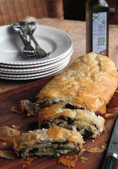 Classic Greek Spinach Pie, Spanakopita, Phyllo Roll   Greek Food - Greek Cooking - Greek Recipes by Diane Kochilas