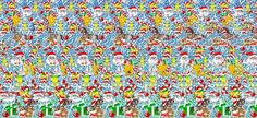 """Some """"Magic Eye"""" Pictures for Christmas Magic Eye Pictures, Eye Images, Photos Of Eyes, Magic Eyes, What Do You See, Christmas, 3d, Santa, Community"""