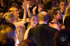 Noblesse et Royautés: Rose Ball 2015, Sporting Monte-Carlo, Monaco, March 28, 2015-Princess Alexandra of Hanover with Beatrice Borromeo, her cousin Charlotte Casiraghi and her uncle Prince Albert (back to camera)
