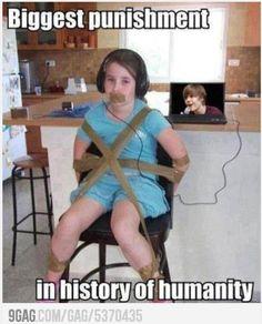 Biggest punishment ever...LOL