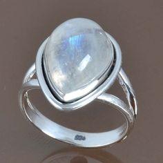 DESIGNER 925 STERLING SILVER RAINBOW MOONSTONE RING 4.13g DJR9045 SZ-6.25 #Handmade #Ring