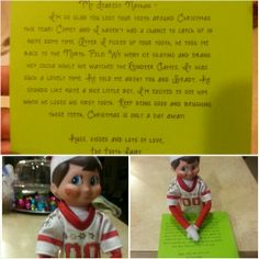 Hot date with The Tooth Fairy - for when kids lose teeth while the elf is hanging around :)  Elf on the Shelf