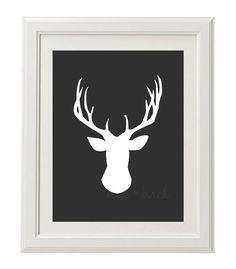 Custom Deer Head Printable by OliveandBirch on Etsy, $4.50